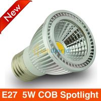 5W  COB LED Spotlight E27  MR16 GU5.3 GU10 E14 base Free COB spotlight
