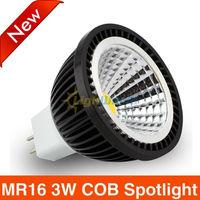 Dimmable MR16 Spot Light 3W COB LED spotligt DC12V E14 E27 GU10 3w 5w