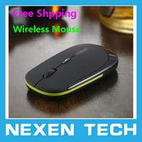 10pcs/Lot Wholesale Ultra Thin 2.4GHz USB2.0 Wireless Mouse Slim Mice 2.4G Receiver for Laptop PC Desktop Mice Wireless Mouse