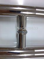 600mm 304 Stainless Steel Big Glass & Wood Door Handles Cabinet Hardware Industrial Door Handle