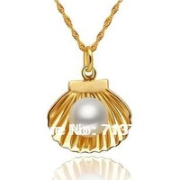 Free Shipping 10mm Pearl Pendant Jewelry 925 Sterling Silver Chain Jewellery Free