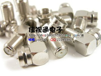 Copper inch F head angle F male to female connector satellite TV set-top boxes Connector Free Shipping