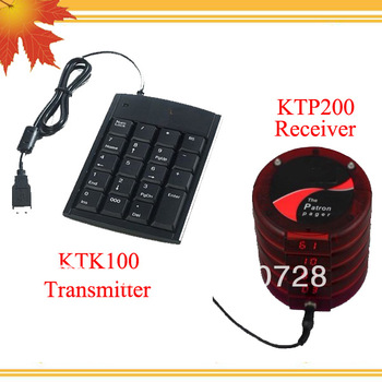 Queuing system for hospital notifing doctor their patient is coming w 1 TKT100 single key transmitter and 5 KTP200 receiver