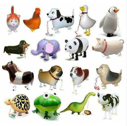 large 18inch mix walking pet balloons Aluminum ballon toy inflatable ball animal foil balloon panda dog freeshipping(China (Mainland))