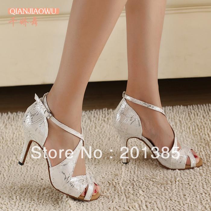 white 3inch 3 5 inch heel ballroom salsa