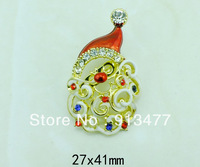 The Newest Fashion Exquisite Crystal Christmas Hat Brooch Christmas Gift