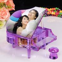 MP3 music box Purple Crystal piano birthday DIY creative gift
