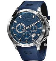free shoping New Quartz Blue Dial Men's Watch AR0649 0649 Rubber Strap Gents Quartz Movement Wristwatch