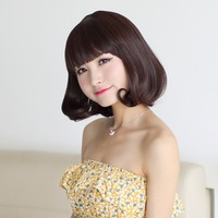 Hot Dream pear wig stubbiness fluffy repair the oligomerization short bangs girls roll jiafa  Free Shipping