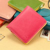 Wallet female short design color block card holder decoration male wallet women's wallet lovers wallet female
