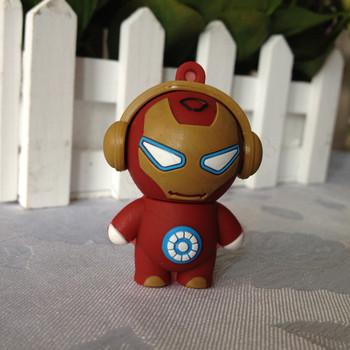 Cute iron man Gift Cartoon model 4gb/8gb/16gb/32gb Iron man Avenger USB flash drive Memory Stick pen drive usb flash drive
