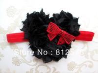 Lovely Baby headbands two sizes shabby chiffon flowers for Classic styling girls headband 20pcs/lot