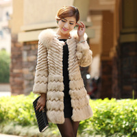 1The new fall and winter clothes ladies fashion fox fur luxury plus size  fur coat Korean yards in the long coat