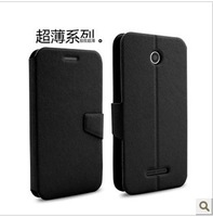 Free shipping Lenovo A760 leather case, Top quality Geniune eather case for Lenovo A760 cover 4 color