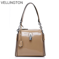 2013 spring and summer women's handbag japanned leather bags one shoulder women's cross-body bag patent leather bag leather