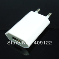 CN 10pc/lot  EU Plug USB Power Home Wall Charger Adapter for iPod apple iPhone 5 5S 5C 4G 4S 4 3GS
