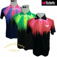 New 2013 Summer Butterfly Table Tennis Competition clothing short-sleeved tennis clothing Men's Polo Shirts quick-drying