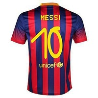 New13-14 Barce 10# MESSI home Gamper Trophy Jersey 2013-2014 Cheap Soccer football kit free shipping