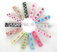 5CM*0.9cm Top quality Mix colors DIY hair Accessory clips Baby girl Ribbon Clip hairband nice heart Flower Dot Cheery carton