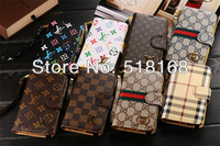 Luxury Wallet Style Genuine Leather Golgen Hard Case For Samsung Galaxy Note3 N9000