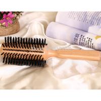 """Retail dia 2.4"""",6cm,Wood Boar bristle Comb,Beech wood 50%Boar Bristle Hair Brush/hair brush comb natural bristle+Free shipping"""