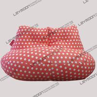 FREE SHIPPING pink dot beanbag chair modern loveseat 100% cotton canvas fabric bean bag chair bean bag sofa bean bag cover