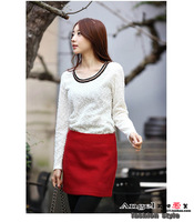 wholesale 2013 OL high quality woolen waist  mini skirt