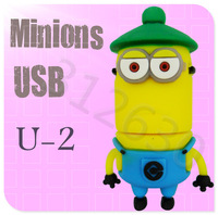 Hot sale U-2 Despicable Me 2 Minions Cartoon U Disk 256MB 4GB 8GB 16GB 32GB 64GB USB 2.0 Flash Memory Stick Gift USB Flash Drive