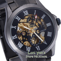 2013 New Arrivals Hollow Out Watch Auto Mechanical Men Watches Wristwatch Free Ship