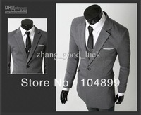 Handsome Two button men's casual suit / Fashion Slim Men suit jacket and long sections