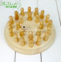 Parent-child adult wooden toy puzzle memory chess