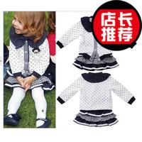 Children's clothing female child autumn 2013 child princess dress baby clothes baby one-piece dress set