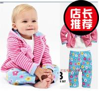 2013 female child spring and autumn piece set child clothes princess baby 100% cotton set