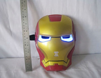 Avenger alliance's Mask Iron man sprider man Party Mask with The bule light and music