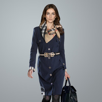 2013 autumn women's o-neck long-sleeve slim high waist female elegant one-piece dress scarf belt