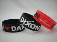 I love Daryl Dixon, The Walking Dead Bracelet, Silicon Wristband, 2colours, Adult, 50pcs/lot, free shipping