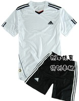 12 clothes pattern polyester cotton football training suit set white
