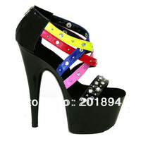new arrive 2013 fashion sexy nail high heel 17cm women Stage  shoes Waterproof 7cm Catwalk shoes  for lady size35-42high Quality