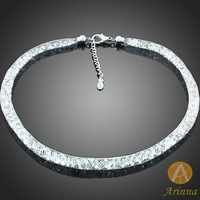 [Arinna Jewelry] Fashion accessories White Round crystal necklace Net Gold plated for women new designer necklace 2013 N1331