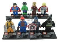 SY180 8pcs Super Heroes Avengers Iron Man Hulk Batman Wolverine Thor plastic Building Block Sets ninja toys ninjago Chima toy