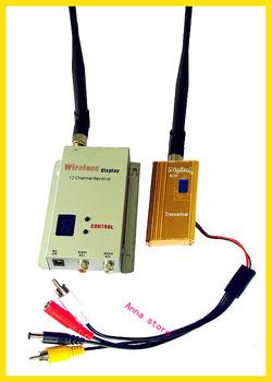 1500MW 1.5M Audio/Video AV Wireless sender/Transmitter & Receiver security kit,up to 1000M