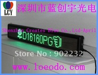new/green LED  MOVING DISPLAY/FREE SHIP/16*160/PITCH4.75MM/1588DOT MATRIX/3.7CM THICKNESS/MINI LED BOARD,LED SCROLLING SCREEN/