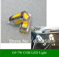 G9 AC110V-240V 7W LED Energy Saving Lamp COB Bulbs Light Crystal Light 2PCS Free shipping