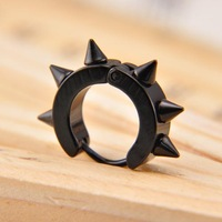 Belt buckle black titanium jewelry male accessories boys earrings fashion birthday gift