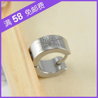 Pattern titanium ear buckle boys accessories male earring stud earring birthday gift fashion