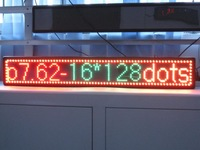 No ship/2pcs/lot/Mini led scrolling sign/pitch7.62mm/display/dot matrix/manufacturer in Shenzhen/BLUE color/16*128PIXELS