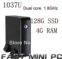 FAST MINI PC mini pcs ITX Computer with Intel 1037u Dual Core 1.8GHz 4G RAM 128G SSD mini computer with HDMI