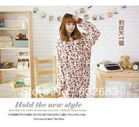 Hot Sale Unisex Adult Animal Pajamas Cosplay Costume Leopard grain HelloKitty cat Sleepwear ,Free Shipping!