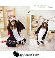 Adult Animal Pajamas Cosplay Unisex Pajamas Sleepwear Onesie Animal Sleepsuit Black Devil Costume Free Shipping!
