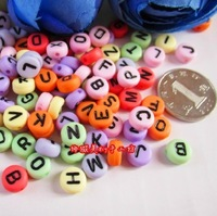 letters of an alphabet loose beads 7mm spacer beads 100pcs/lot  for making DIY  jewelry or bracelet Free shipping